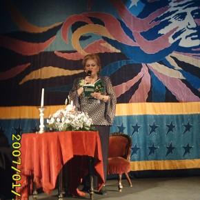 15 ianuarie 2007, lansare CD Din dor de Eminescu la Teatrul M. Eminescu Botoşani.