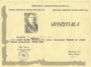 10. Diploma Pavel Dan Cluj 1999