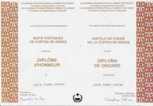 15. Diploma de o6oare Curtea de Arges