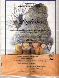 19. Diploma salon carte Chisinau, 2000