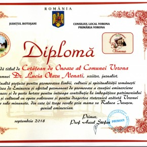Cetatean de onoare Vorona