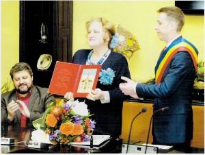 Lucia Olaru Nenati cetatean de onoare mun. Botoşani 24 aprrilie 2014